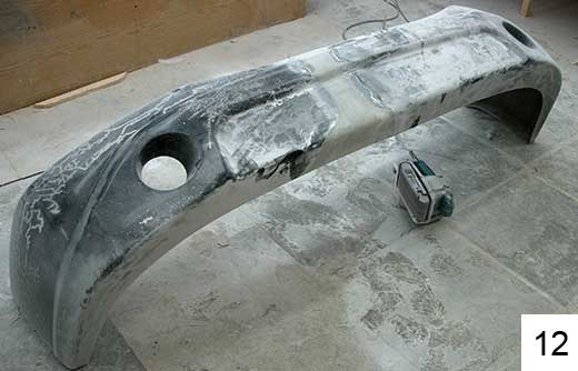 Ремонт бамперов своими руками из стекловолокна