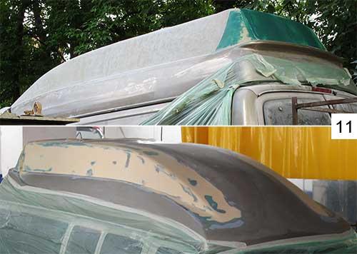 покрытие для лодки из стеклопластика